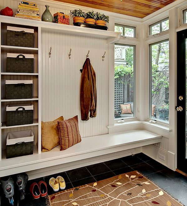 Small Entryway Ideas - Storage Area