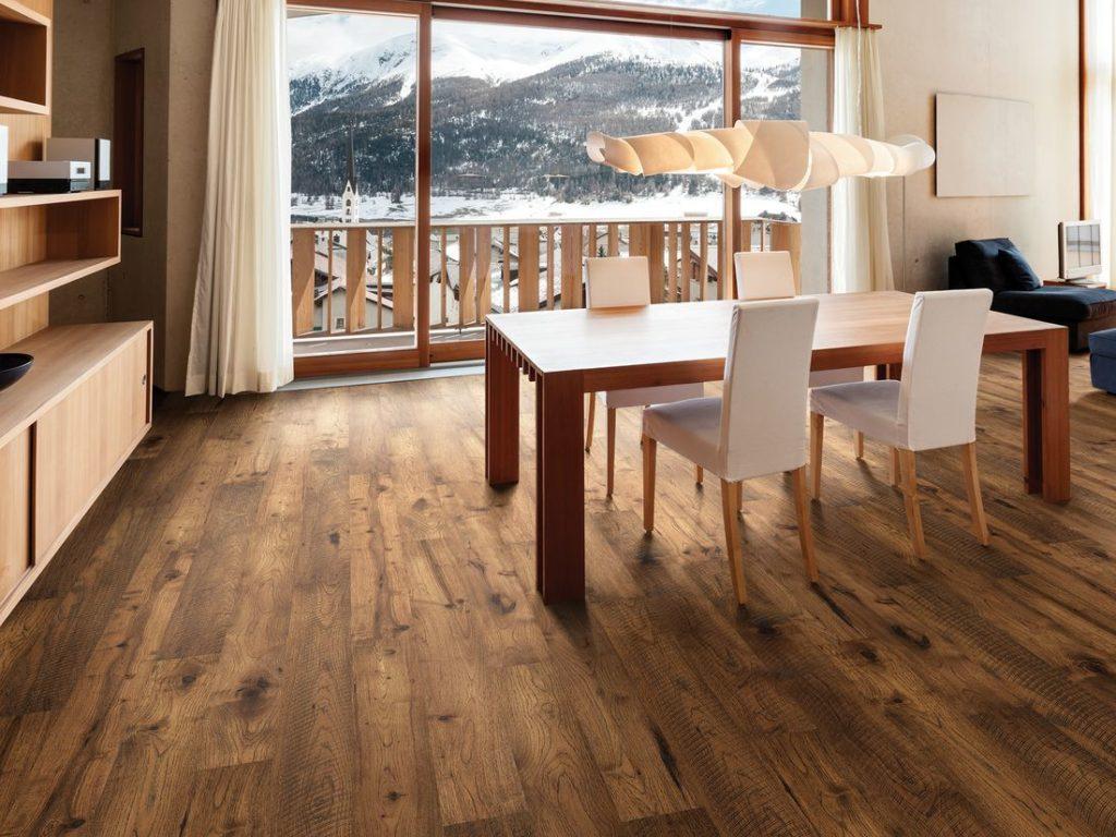 Stained Finish Hardwood Floor