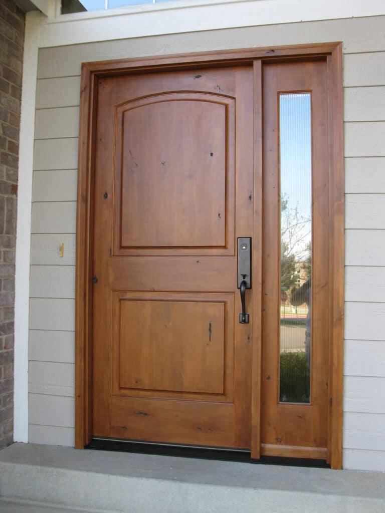 Two panels wooden door