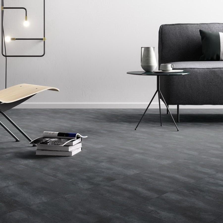 Luxury Vinyl Floor Dark Grey