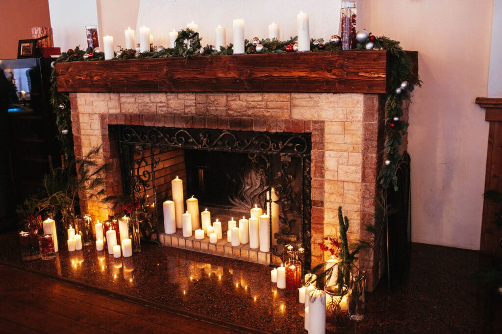 Non-Working Fireplace Candle Ideas