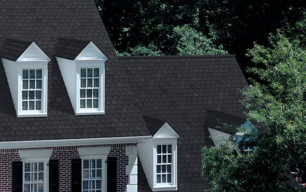 Black Roof With Ridge Vent