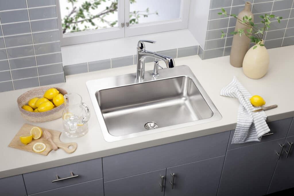 Drop In Stainless Steel Single Sink