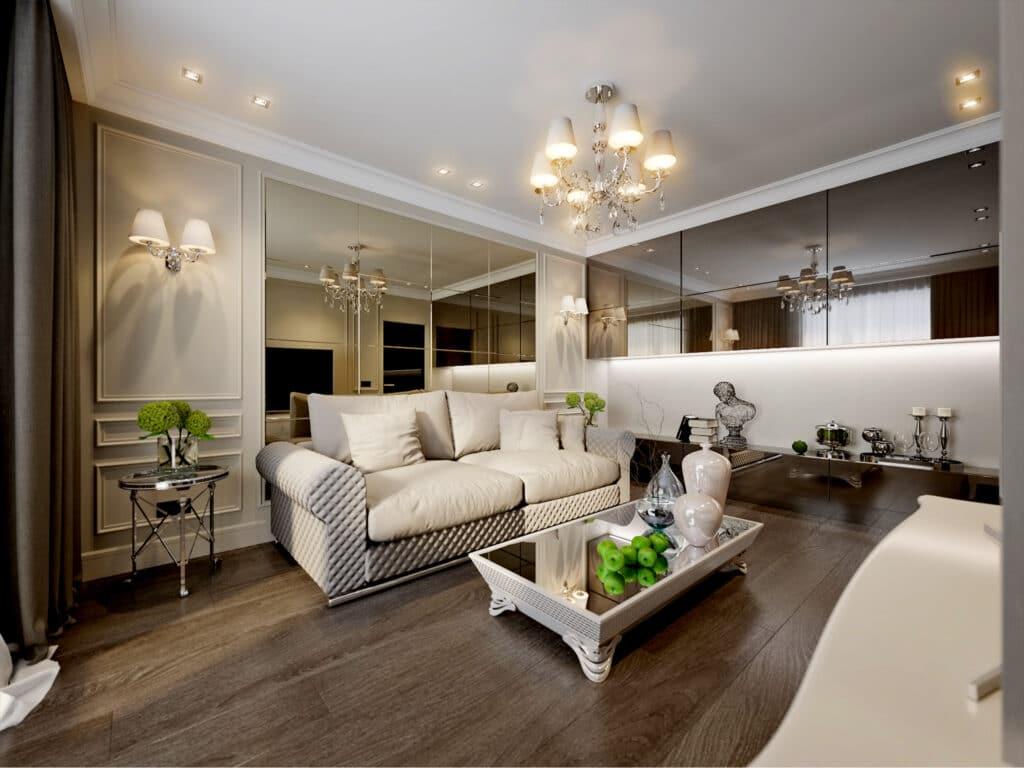 Hardwood in Living Room